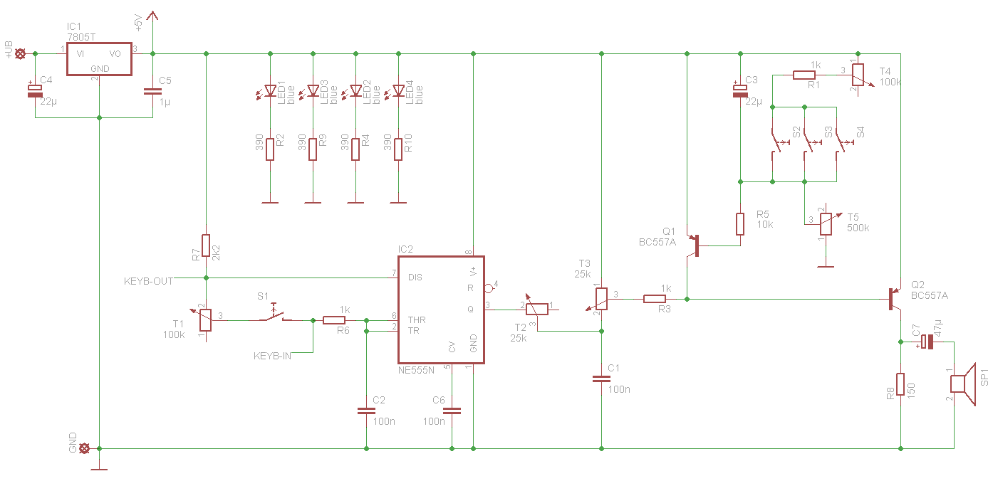 A 555 Synthesizer on pitch shifter schematic, distortion schematic, q-tron schematic, limiter schematic, wah schematic, mutron 3 schematic, buffer schematic, reverb schematic, vibrato schematic, mixer schematic, chorus schematic, generator schematic, compressor schematic, univibe schematic, eq schematic, expression pedal schematic, preamp schematic, phaser schematic, ring modulator schematic, fuzz schematic,