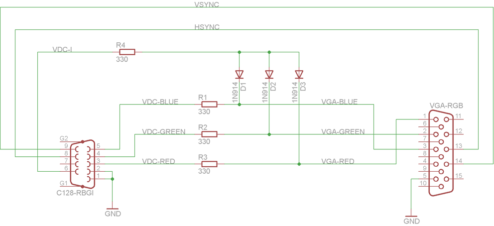 rgbi to rgb converter for vdc output rh frank buss de amiga rgb to vga monitor adapter schematic HDMI Connector