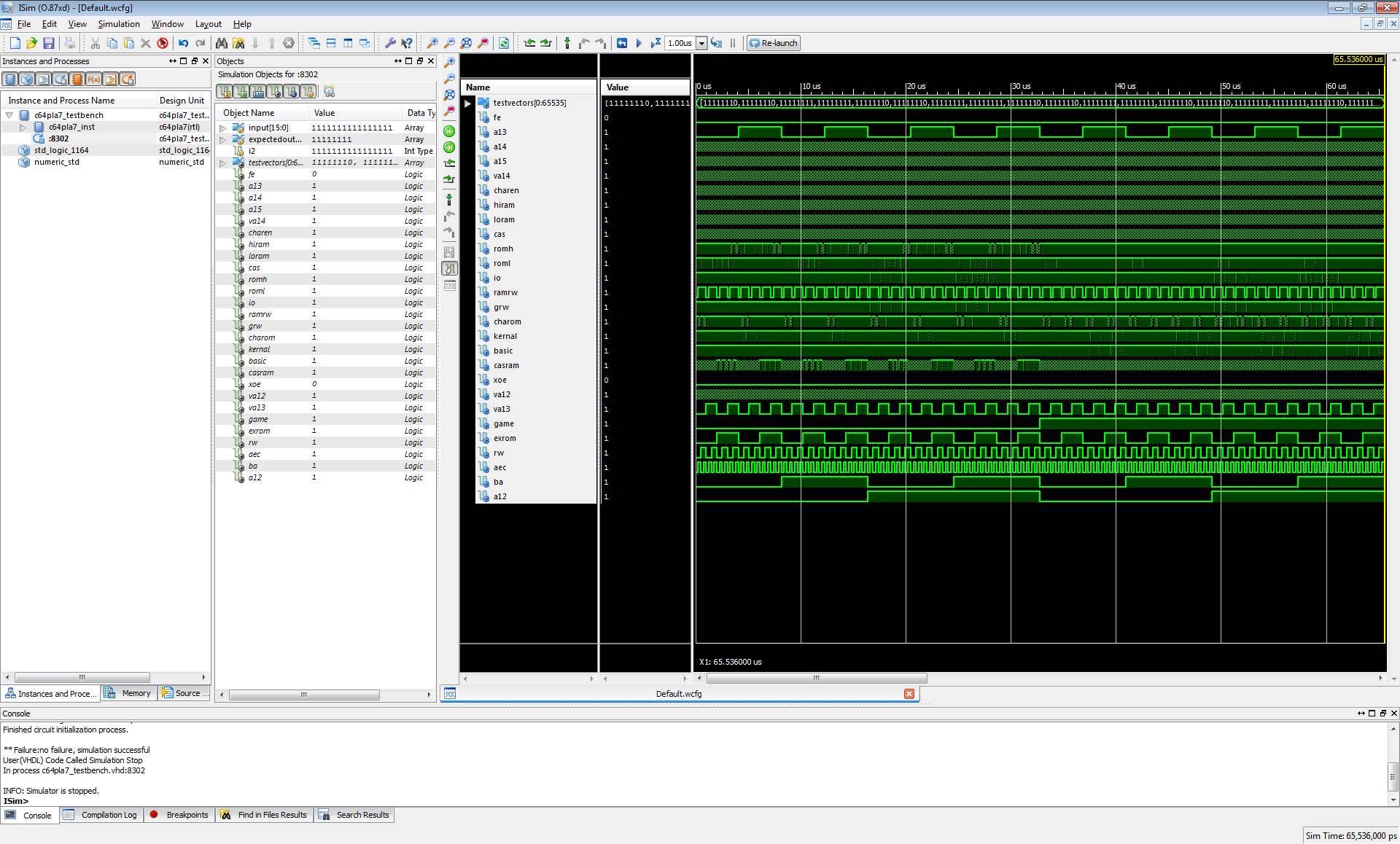 C64 PLA implemented in VHDL