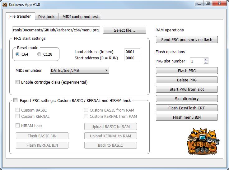 Kerberos - C64/C128 MIDI Interface